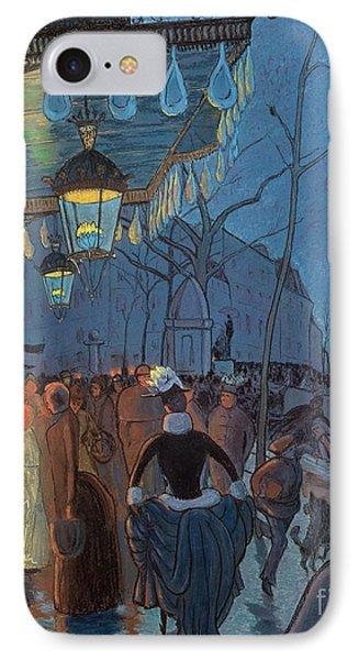 Avenue De Clichy Paris Phone Case by Louis Anquetin