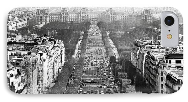 Avenue Des Champs-elysees Phone Case by John Rizzuto