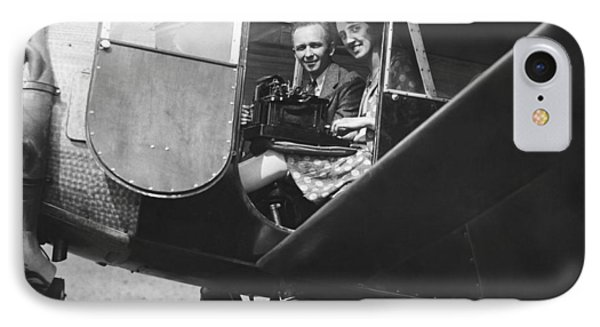 Aviator Clarence Chamberlin IPhone Case by Underwood Archives
