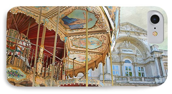 IPhone Case featuring the photograph Avignon Carousel by Karen Lynch