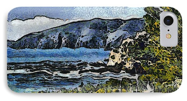 Avila Bay California Abstract Seascape Phone Case by Barbara Snyder