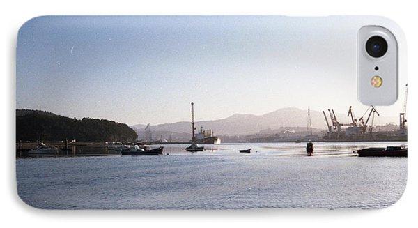 Aviles Port IPhone Case by Juan  Bosco