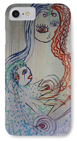 IPhone Case featuring the painting Avi's Madonna by Avonelle Kelsey