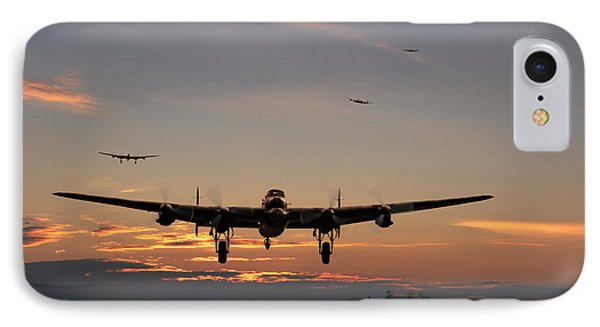 Avro Lancaster - Dawn Return IPhone Case by Pat Speirs
