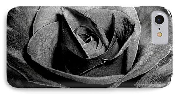 Awakened Black Rose Phone Case by Nina Ficur Feenan