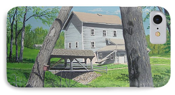 Award-winning Painting Of Beckman's Mill Phone Case by Norm Starks