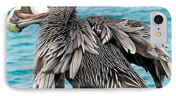 Awkward Pelican Phone Case by Jean Noren