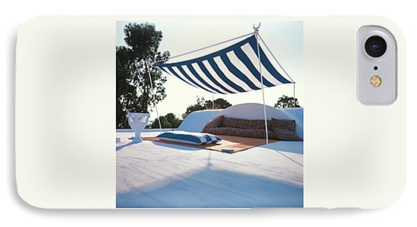 Awning At The Vacation Home Of Gaston Berthelot IPhone Case