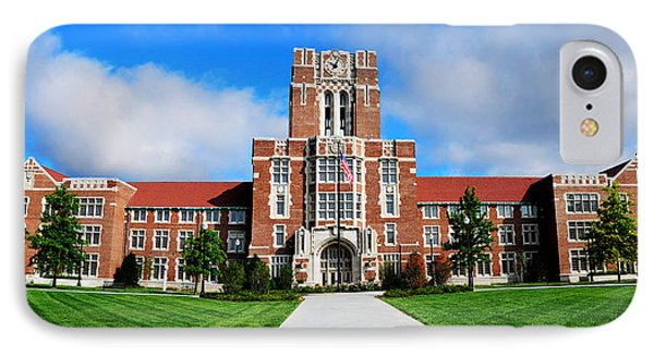 IPhone Case featuring the photograph Ayres Hall by Paul Mashburn