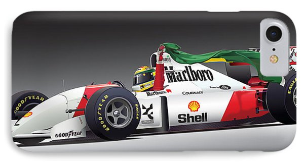 Ayrton Senna Da Silva Art IPhone Case