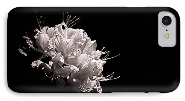 Azalea Black And White Floral  II Phone Case by Holly Martin