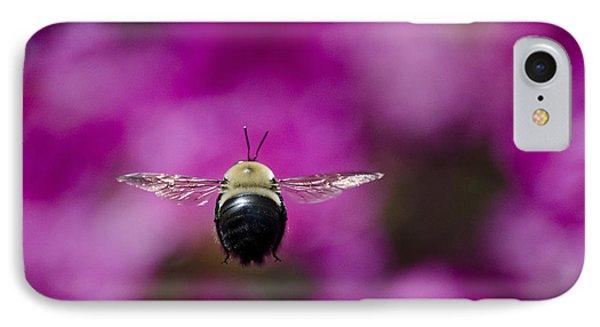 IPhone Case featuring the photograph Azalea Bush Bee by Brian Stevens