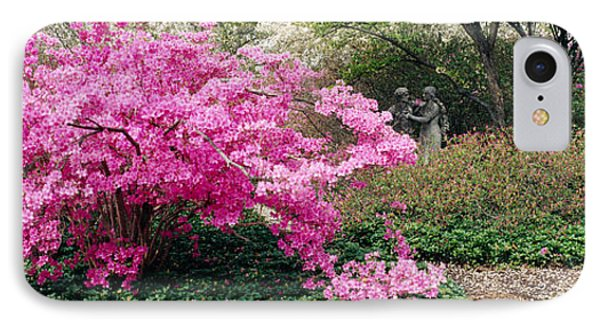 Azalea Flowers In A Garden, Garden IPhone Case by Panoramic Images