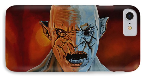 The iPhone 7 Case - Azog The Orc Painting by Paul Meijering