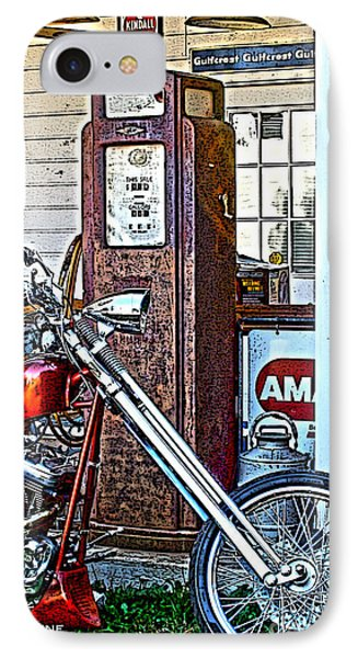 IPhone Case featuring the photograph Aztec And The Gas Pump by Lesa Fine