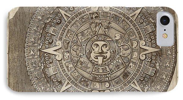 Aztec Calendar Stone IPhone Case