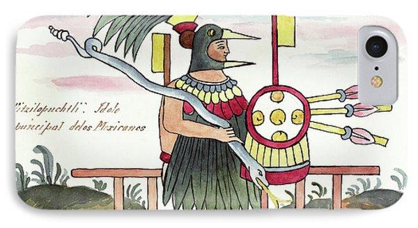 Aztec Deity Huitzilopochtli IPhone Case by Library Of Congress
