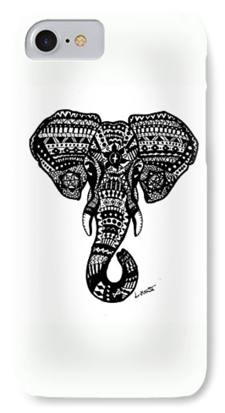 Aztec Elephant Head IPhone 7 Case by Loren Hill