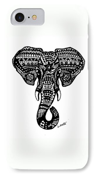 Aztec Elephant Head IPhone Case by Loren Hill