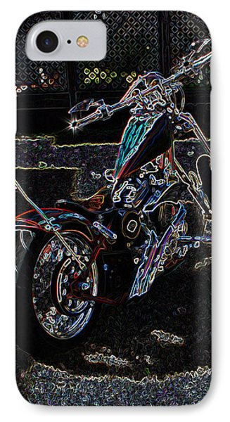 IPhone Case featuring the digital art Aztec Neon Art by Lesa Fine