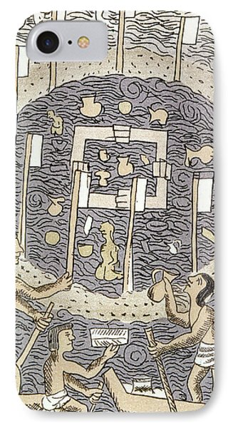 Aztec Religious Ceremony IPhone Case