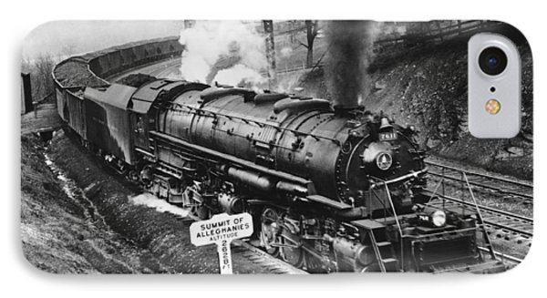 B & O Railroad Coal Train IPhone Case by Underwood Archives