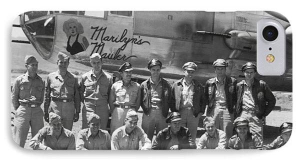 B-25 Bomber And Crew IPhone Case