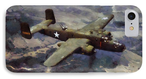 IPhone Case featuring the painting B-25 Bomber by Kai Saarto