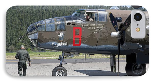 B-25 Bomber Pre-flight Check Phone Case by Daniel Hagerman