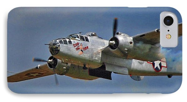 B-25 Take-off Time 3748 Phone Case by Guy Whiteley