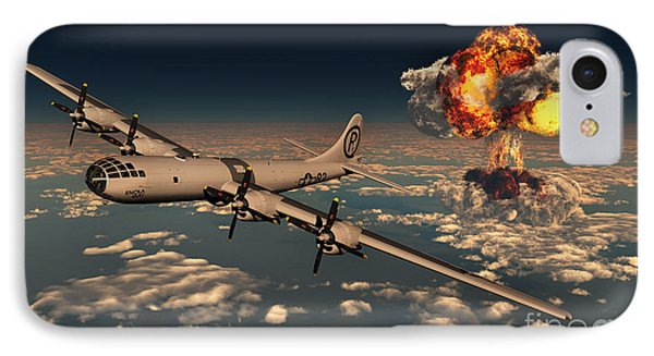 B-29 Superfortress Flying Away IPhone Case by Mark Stevenson