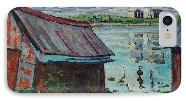 B And B - Barriefield Boathouse IPhone Case by Phil Chadwick