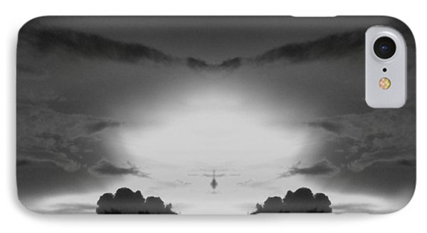 Helicopter And Stormy Sky IPhone Case by Belinda Lee