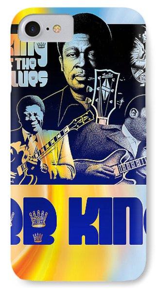 B. B. King Poster Art IPhone Case by Robert Korhonen