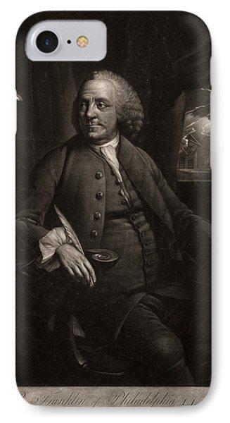 B. Franklin Of Philadelphia L.l.d. F.r.s.  M. Chamberlin IPhone Case