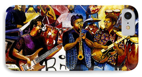 B. One Jazz Band Featuring Erly Thornton IPhone Case by Everett Spruill
