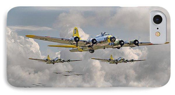 B17 486th Bomb Group Phone Case by Pat Speirs