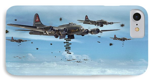 B17 - Mighty 8th Arrives IPhone Case by Pat Speirs