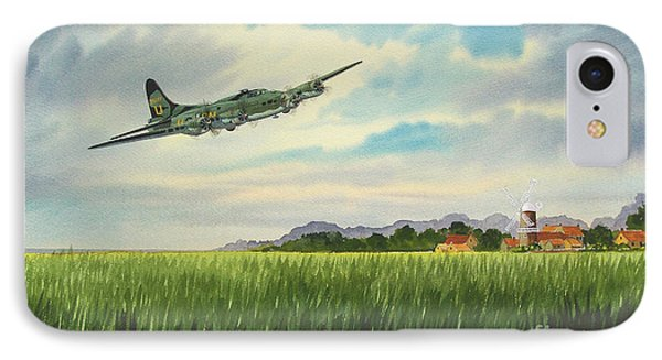 B17 Over Norfolk England IPhone Case