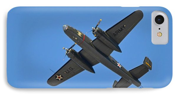 B25 Mitchell Wwii Bomber On 70th Anniversary Of Doolittle Raid Over Florida 21 April 2013 IPhone Case by Jeff at JSJ Photography