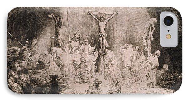 The Three Crosses, Circa 1660 IPhone Case by Rembrandt Harmensz van Rijn