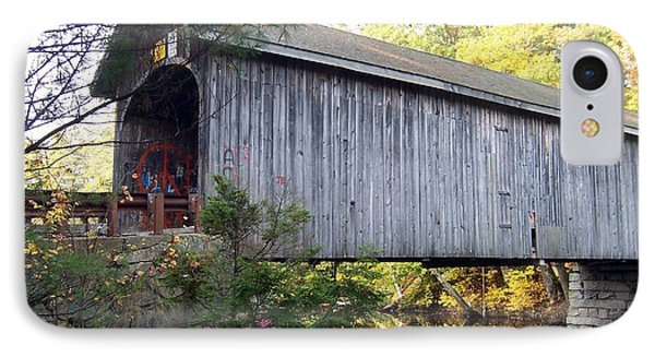 Babbs Covered Bridge In Maine IPhone Case by Catherine Gagne