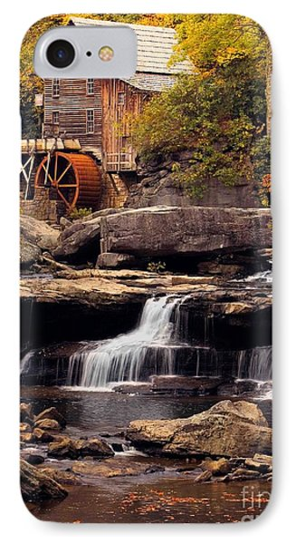 IPhone Case featuring the photograph Babcock Grist Mill And Falls by Jerry Fornarotto