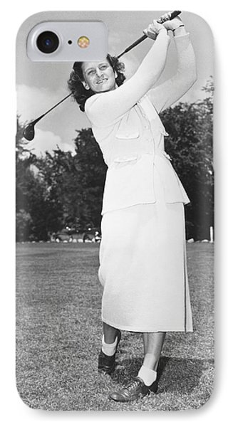 Babe Didrikson Golfing IPhone Case