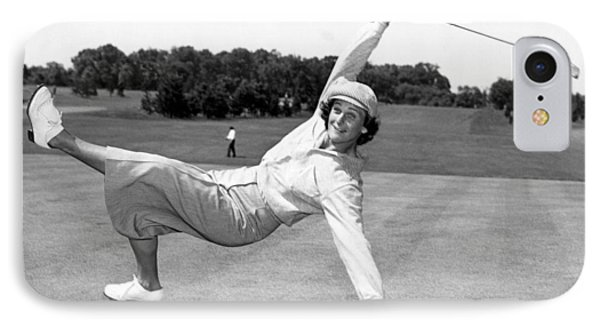 Babe Didrikson Zaharias IPhone Case by Underwood Archives