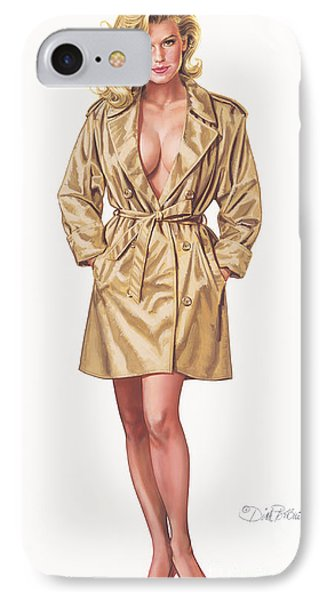 Babe In Trenchcoat IPhone Case