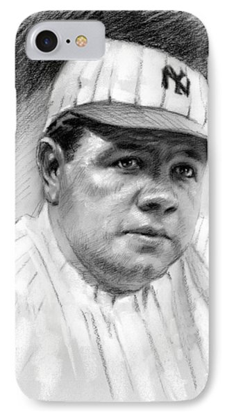 Babe Ruth IPhone Case by Viola El