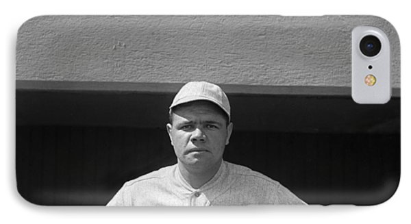 Babe Ruth In Red Sox Uniform IPhone Case by Underwood Archives