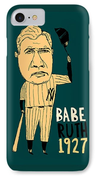 Babe Ruth New York Yankees Phone Case by Jay Perkins