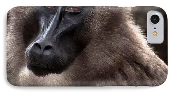 Baboon IPhone Case by Loriannah Hespe